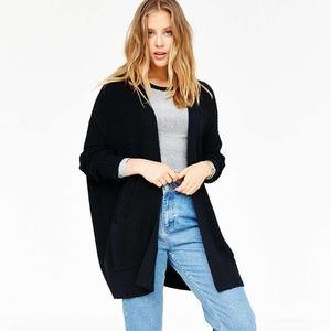 Urban Outfitters oversized black cardigan sweater